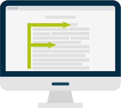 How visitors read a website