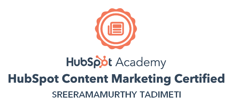 hubspot content marketing certified consultant
