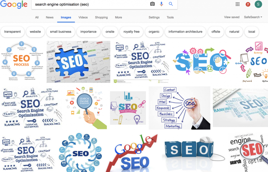 Google Image SERP Results