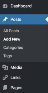 Create wordpress post