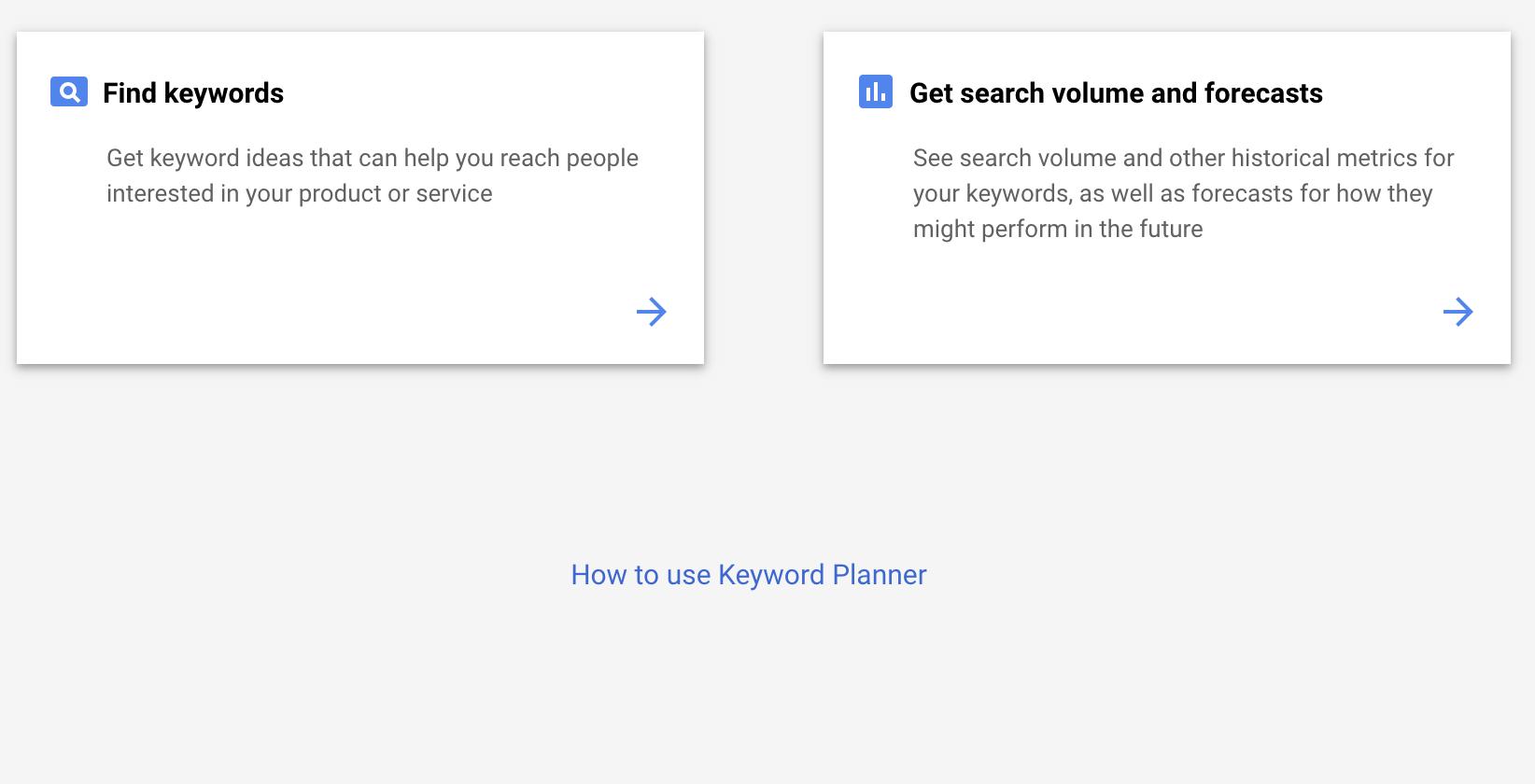 Google keyword analysis